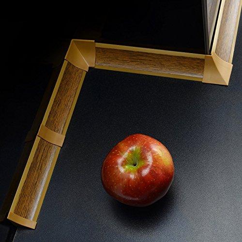 [DQ-PP] Innenecke für Winkelleisten Eiche rustikal für Küchen 23mm x 23mm Arbeitsplatten Grundprofil Abschlussleiste Küchenabschlussleiste Tischplattenleisten