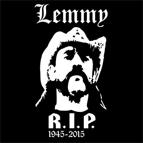 Holashirts Mallorca Lemmy RIP Aufkleber Sticker Autoaufkleber 185x100mm Folie Fan Art (Weiss)