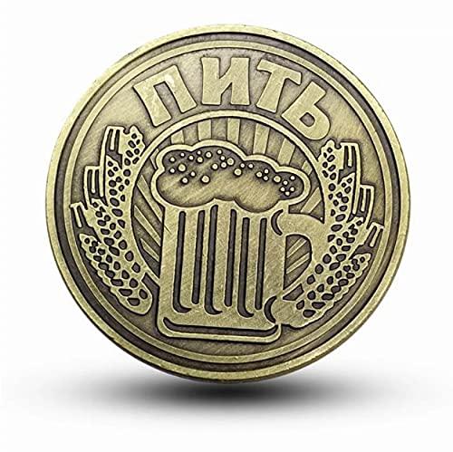 valungtung Monedas Conmemorativas Cerveza Rusa Coinretro Color Bronce Galvanoplastia Aleación De Zinc Decoración del Hogar Moneda De Regalo
