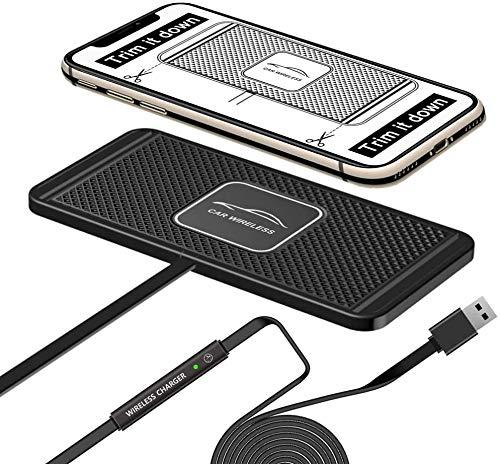 LVYE1 MRMF Cargador de Coche inalámbrico Qi Charging Pad DIY Fast 10W 7.5W Adaptador de Carga rápida para iPhone 11 Pro MAX 8 Plus X XR XS Compatible Galaxy S7 S8 S9 S10 Teléfono Android