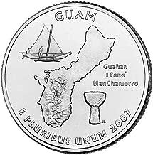 2009 P & D Satin Finish Guam Territory Quarter Choice Uncirculated US Mint 2 Coin Set