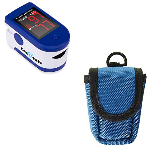 Zacurate 500CL Fingertip Pulse Oximeter and Oximeter Carrying Case Bundle