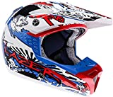 Lazer SMX Dirty Casco cross Bianco/Blu/Nero