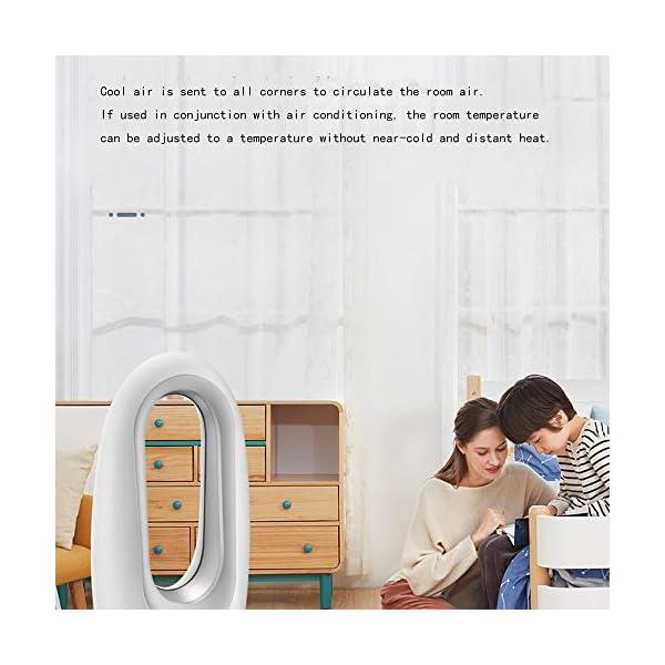 ZJRA-Ventilador-sin-Cuchillassin-Hojas-Luces-de-LED-de-Colores-del-Dormitorio-4-de-purificacin-de-Aire-de-Iones-Negativos-de-Escritorio-para-el-hogar-Control-Remoto-Ventilador