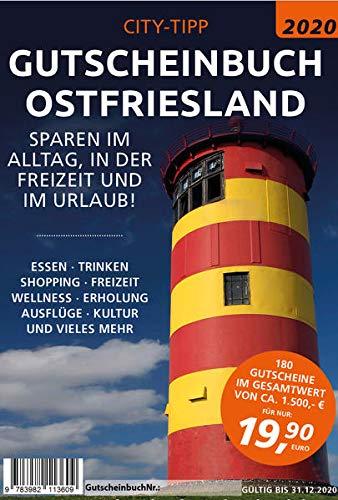 City-Tipp Gutscheinbuch 2020 Ostfriesland: Sparen im Alltag, in der Freizeit und im Urlaub. Über 180 Gutscheine für die ganze Familie im Wert von über 1500 Euro.
