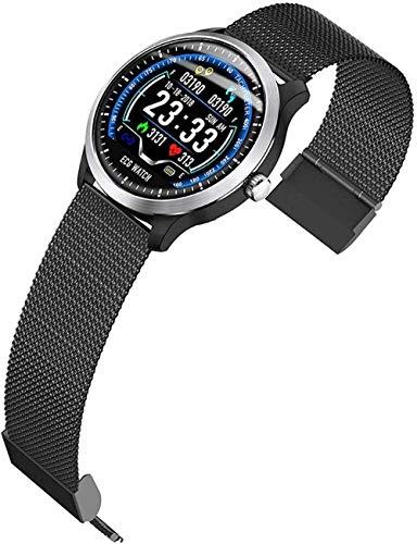 AMBM Reloj inteligente Bluetooth Smart Watch Fitness Tracker Reloj con ritmo cardíaco, seguimiento de sueño, contador de calorías, seguimiento de actividad, mensaje amarillo, mejor regalo, negro 1