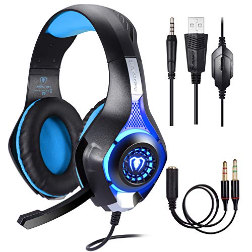 Cuffie Gaming per PS4 PC,Cuffie da Gioco, Stereo Gaming Headset, Samoleus 3.5mm Jack Cuffie Gamer...