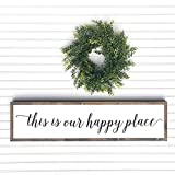 Tamengi This is Our Happy Place Sign, Living Room Wall Decor, Above The Sofa Wall Decor, Farmhouse Sign, Family Room Sign