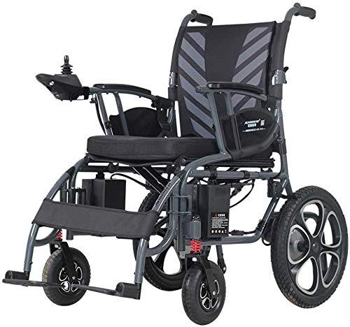 BDFA Sedia a rotelle elettrica Pieghevole Leggero 50 libbre con batterie Heavy Duty Supporta 360 lbs Grado dei velivoli Telaio Lega di Alluminio