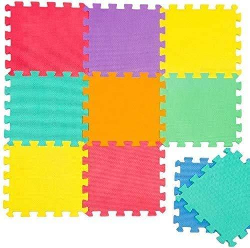 Gutsbox Alfombra Puzzle para Niños Bebe Infantil - Suelo de Goma EVA Suave 10 Piezas 30x30x0.5cm