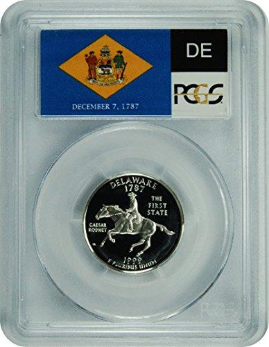 1999 S Delaware Silver Statehood Delaware Silver Statehood Quarter DCAM PCGS PR-69
