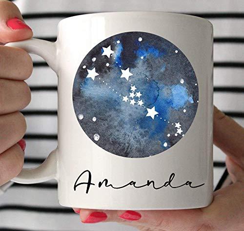 N\A Taza de café de Tauro, Regalo de Tauro, Taza de la constelación de Tauro, Regalos de astrología para Hombres, Regalo del Zodiaco de Tauro, horóscopo de Tauro, Regalo de cumpleaños de Mayo