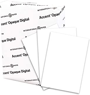 Accent Opaque White Cardstock Paper, 120lb Cover, 325 gsm, 8.5 x 11 card stock, 1 Ream / 150 Sheets - Extremely Heavy Card...