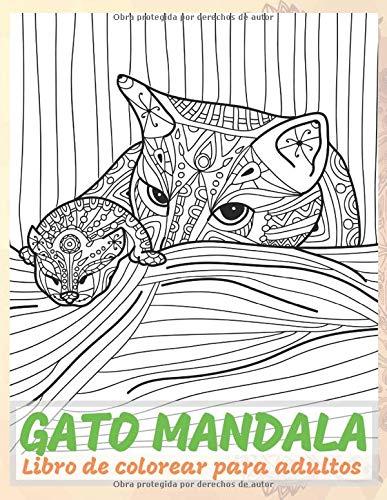 Gato mandala - Libro de colorear para adultos