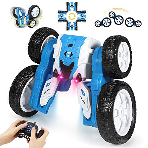 Remote Control Car, 2.4GHz Electric Race Stunt Car, RC Cars Stunt Car Toy, Double Sided 360°Rolling Rotating Rotation Kids Toy Cars for Boys & Girls Birthday