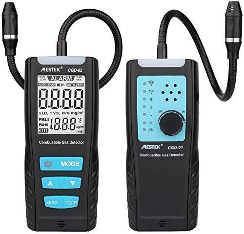 LKAIBIN Detector LCD portátil Detector de Gas Sensor de Calidad de Aire Analizador medidor de Gas Combustible automotor Monitor de Fugas de Gas con el Sonido de Alarma de Choque (Tamaño: CDG02)