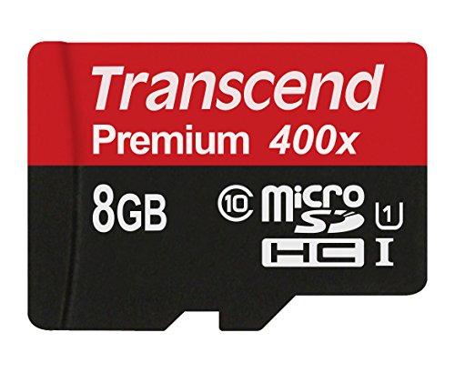 Transcend TS8GUSDCU1 Class 10 Premium microSDHC 8GB Speicherkarte UHS-I