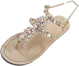 1941f51ea2 TPulling Sommer Damen﹛Bohemian Perlen Strass﹜💕❤ Sandalen High Heels﹛T-