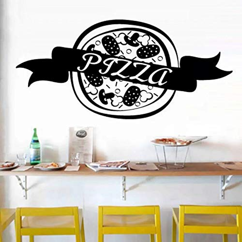WERWN Kreative Mode Kunst Küche Pizza Aufkleber Essen Vinyl Kunst Wandaufkleber Dekorative Pizza Wandaufkleber