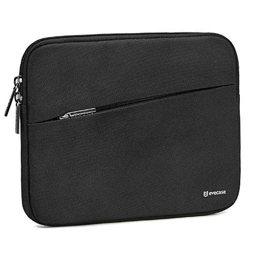 Custodia SLASH, Evecase Custodia con Tasca per Tablet da 8 pollici portatile universale Poliestere, Borsa per Samsung Galaxy Tab 3/ ASUS ZenPad/Fonepad/Memo Pad HD/HDX/LTE - Nero