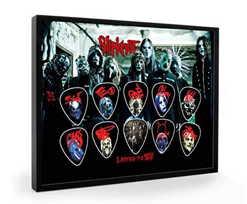 We Love Guitars Slipknot L500 Gitarre Plektrum Framed Gerahmt Display Gitarren Picks