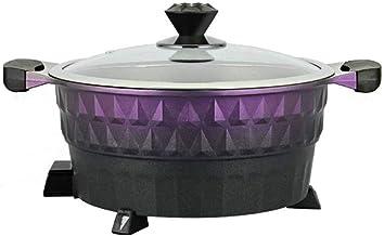 GZQDX Fondue électrique Grill, Style Mini Portable ménages Multi Fonction Non-Stick Hot Pot Friture Fried Marmite, 5.5L