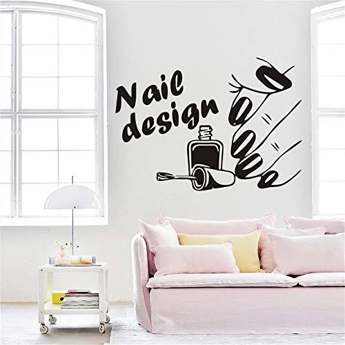 Wandaufkleber Wandtattoo Nagelstudio Home Decor Wohnzimmer Beauty Shop Nails Art Beautiful
