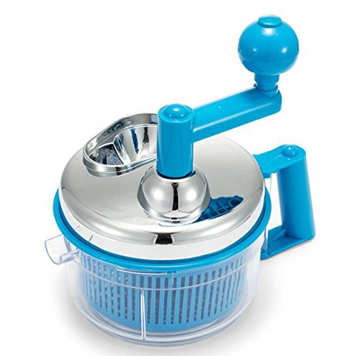 Multifunction 3 In 1 Hand-Powered Salad Spinner Food Chopper Vegetable Mixer Fruit Chopper All in One Salad Tool-Onion chopper, egg separator, eggbeater, salad spinner, manual chopper, meat mincer