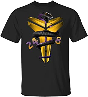 K_obe Mamba Bryant Logo Black T-Shirt Los Angeles 8/24 Shirt