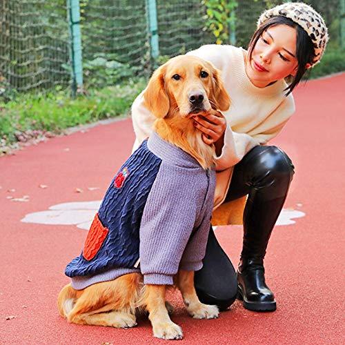 JKGHK Kleidung für Haustiere Weicher und Warmer Fleece-Hundepullover, Hundemantelmantel, Dehnbarer Hundeoverall, Leichtes Hundekleidungs-Outfit,B,4XL