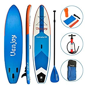 Uenjoy Inflatable Sup 11'30″x6″ All Around Paddle Board, W/Full Accessories, Perfect for Yoga Fishing Touring