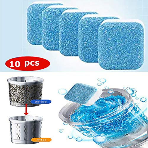 Effervescent Tablet Washer Cleaner,Solid Washing Machine Cleaner,Deep Cleaning Remover with Triple Decontamination for Bath Room Kitchen (10pcs)