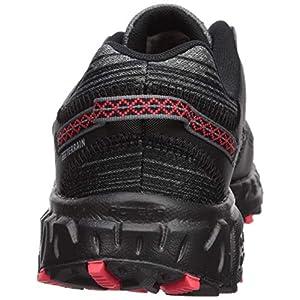 new balance Men's 410v6 Cushioning Trail Running Shoe, Black/Castlerock/Energy red, 17 D US