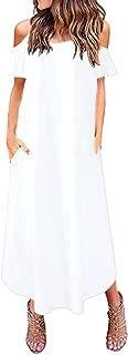 Best cold shoulder white maxi dress Reviews