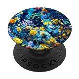 Acuario colorido - Peces de arrecife de océ PopSockets PopGrip Intercambiable