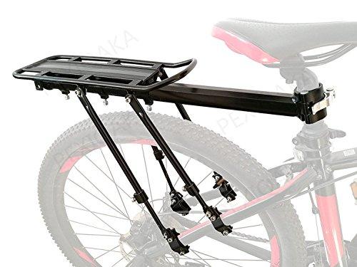 COMINGFIT Estante de Bicicleta (Capacidad de 100 kg) Aleación de Aluminio Equipo de Soporte Universal Ajustable Calzado de Bicicleta Bastidor de Bastidor Portaequipajes Equipaje de Carga