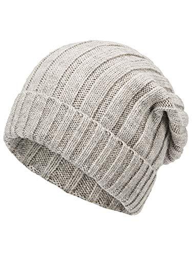 Marhatter Strickmütze Wollmütze Herren Mütze Wintermütze Mütze Beanie