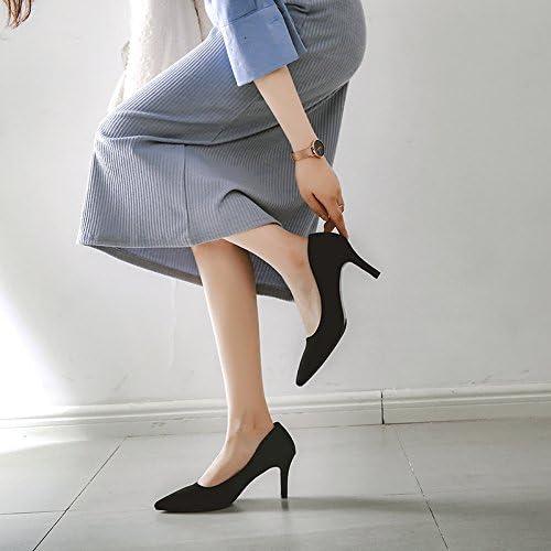 Xue Qiqi 5cm High heels girl avec embout noir élégant satin interview les emplois offrent peu de lumière de l'unique service de 7cm,37, noir 7cm