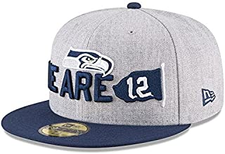 New Era New Era Seattle Seahawks Heather Gray/Navy 2018 NFL Draft Official On-Stage 59FIFTY Fitted Hat 服 【並行輸入品】