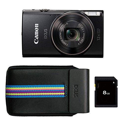 """Canon IXUS 285 HS Appareil-Photo Compact 20,2 MP 1/2.3"""" CMOS 5184 x 3888 Pixels Noir - Appareils Photos numériques (20,2 MP, 5184 x 3888 Pixels, CMOS, 12x, Full HD, Noir)"""