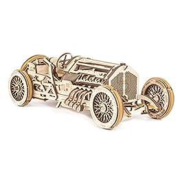 UGEARS U-9 Grand Prix – Auto modello in legno – Set di Costruzione Meccanica – Mac
