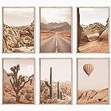 Bold Design Poster Set Wüste - 6 x DIN A3 - Harmonierende