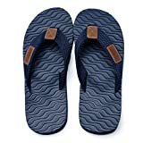 Betrue Men Beach Flip Flops, EVA Sandals for Men, Lightweight Mens Beach Slippers, Non-Slip Flip Flops Indoor & Outdoor(BE2006-BLU-40)