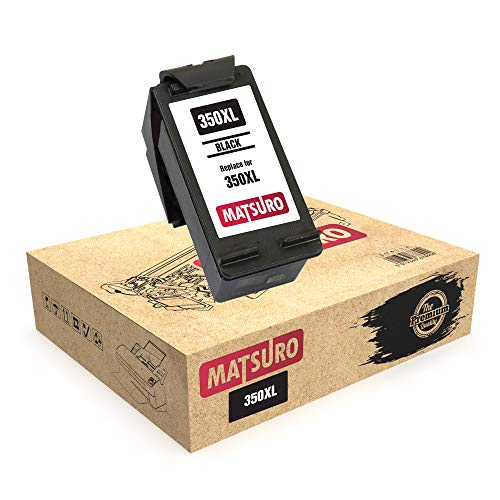 Matsuro Original | Compatible Remanufactured Cartucho de Tinta Reemplazo para HP 350XL 350 (1 Negro)