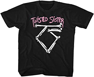 American Classics Twisted Sister Heavy Metal Band Bad to The Bone Logo Youth T-Shirt Tee