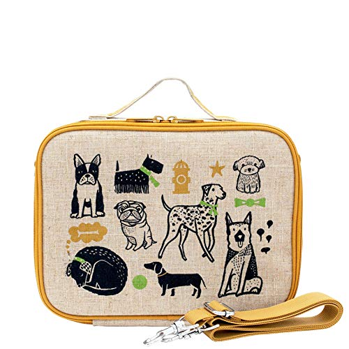 SoYoung Lunch Bag - Raw Linen, Eco-Friendly, Retro-Inspired and Easy to Clean (Wee Gallery Pups)