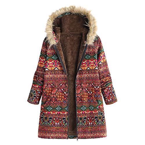Yowablo Pullover Damen Lang Langarm Rollkragenpullover Weihnachtspullover Norweger Pullover Sweatshirt Hoodies Sweatshirt Langarmshirt Strickpullover Kapuzenpulli Bolero (XL,3- rot)