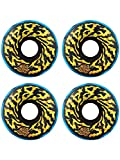 Santa Cruz Slime Balls Swirly Black Blue Swirl Wheels 78A 65mm