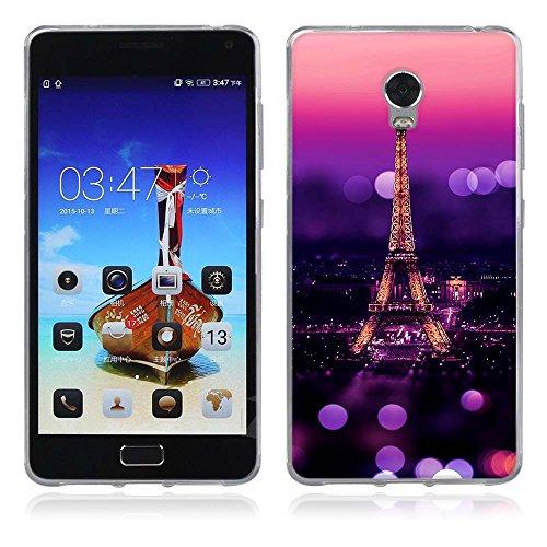 FUBAODA für Lenovo Vibe P1 Hülle, [Eiffelturm] Künstlerische Malerei-Reihe TPU Case Schutzhülle Silikon Case für Lenovo Vibe P1