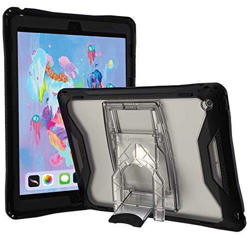 UZBL iPad 10.2 (7th Gen) Case, Aftershock Heavy Duty Rugged Ultra-Protective Case Cover with Screen Protector, Removable Kickstand, and Rubberized Edges
